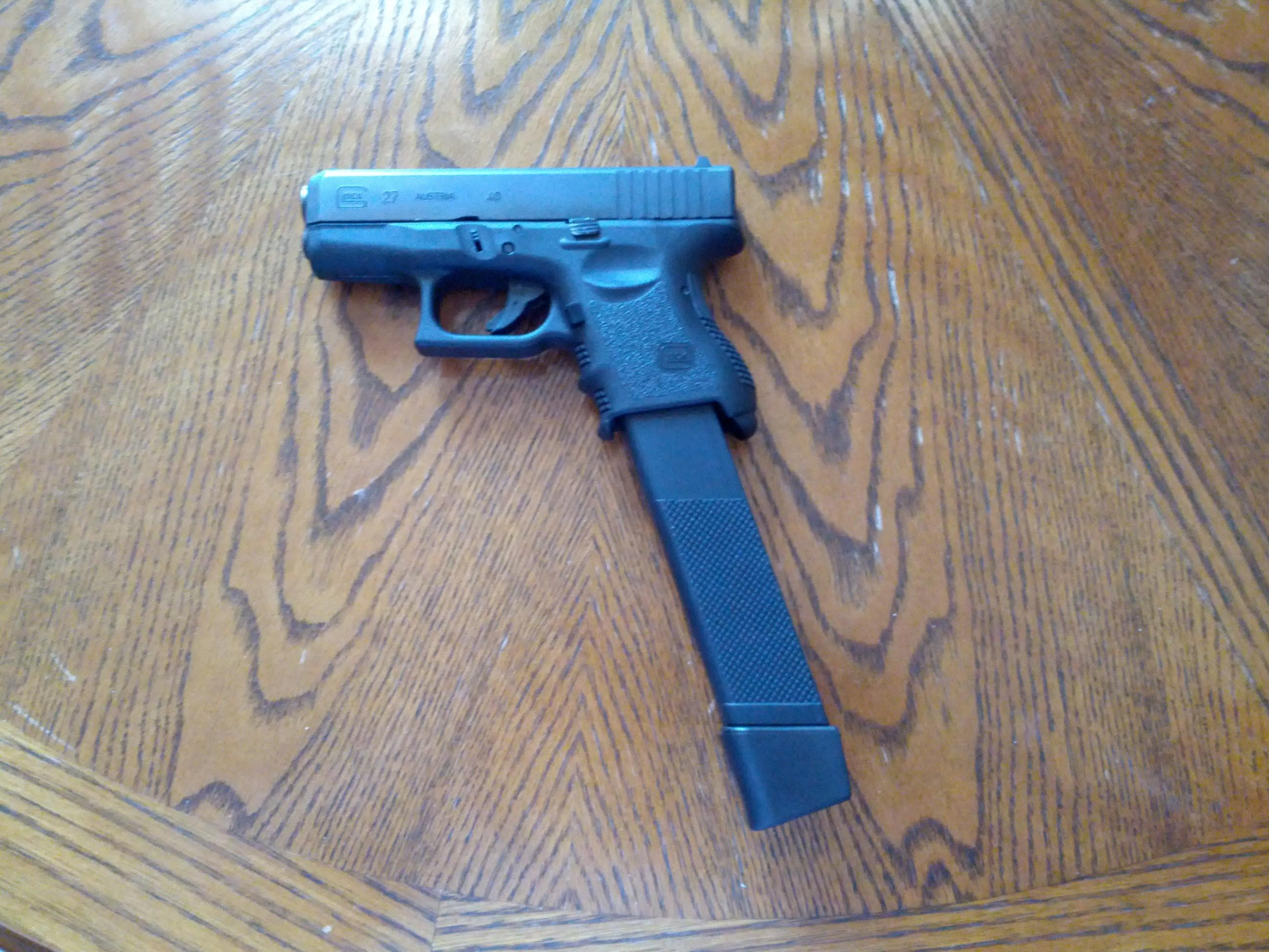 My Gen 3 Glock 27 kicks like a Clydesdale