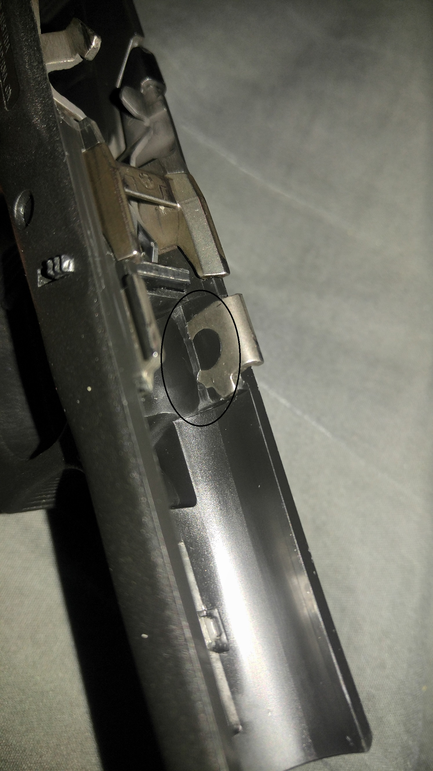 Glock 43 frame wear from recoil spring assembly